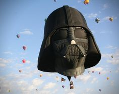 Originally the concept was just a joke, but after a few loose ends were tied with Steve Sansweet from Lucasfilm, these die hard Star Wars fans dream became a reality with this incredible Darth Vader Hot Air Balloon.