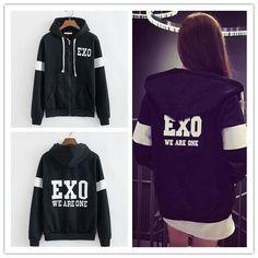 Korea Hot Team KPOP EXO CHAN YEOL D.O We are one Black Zip Hoodies Jacket Coat in Ropa, calzado y accesorios, Ropa, calzado y accesorios, Ropa unisex para adultos   eBay