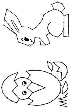 borduurkaart-kuikenei-haas Easter Coloring Sheets, Easter Colouring, Coloring Pages, Easter Activities, Fun Activities For Kids, Diy For Kids, Crafts For Kids, Arts And Crafts, Embroidery Cards