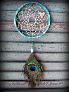 Dream Catcher #peacock #heart #love