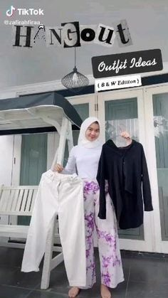 Casual Hijab Outfit, Ootd Hijab, Hijab Fashion, Fashion Outfits, Womens Fashion, Instagram Photo Editing, Bts Aesthetic Pictures, Simple Outfits, Outfit Of The Day