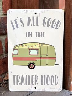 New Camping Metal Sign - Trailer Hood Sign - Camping Decor - Outdoor Decor -Housewarming Gift