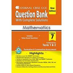Oswaal CBSE CCE Question Bank mathematics Class 7 (term 1 & 2) PB
