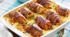 Chicken rolls on potato gratin-Kycklingrullader på potatisgratäng Delicious and tasty with chicken! Pavlova, 300 Calorie Lunches, Swedish Recipes, Food Blogs, Food Menu, I Love Food, Soul Food, Chicken Recipes, Food Porn