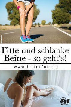 Wer wünscht sie sich nicht - schlanke und fitte Beine? Mit diesen Übungen und Tricks, ist es ganz leicht! #abnehmen #fitness #beintraining #fithacks
