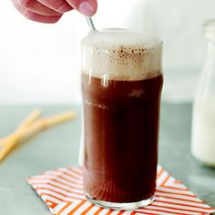 Classic Chocolate Egg Cream @keyingredient #recipes #chocolate