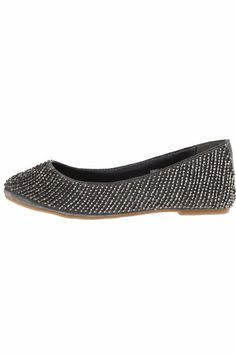 Adorable brown flats with gold crystals. These shoes add a little bit of sparkle to any outfit.    Brown Embellished Flat by Naughty Monkey. Shoes - Flats - Ballet St. George, Utah