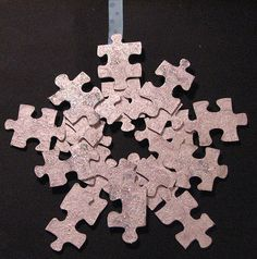 Don't throw away old puzzle pieces when you have lost a few of them.  This would be a great craft for over the school holiday.  Christmas has 12 days not just one!