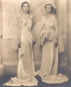 Leonora Carrington with her mother during her debutante season at their presentation at King George V's court in 1934.  By 17 she'd been kicked out of two convent schools and scraped through stints at finishing schools in Florence and Paris. She was allowed some time at a London art school. Not long after the presentation, she'd met the surrealist painter Max Ernst, nearly 20 years older than she and married, and disappeared with him through the window to France, never to return.
