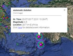 Paralia News- (Breaking News): Ισχυρός σεισμός στα Δωδεκάνησα