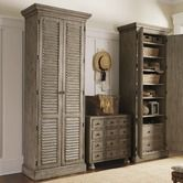 "Lexington""Twilight Bay Hartley Cabinet in Distressed Textured Soft Taupe Gray"