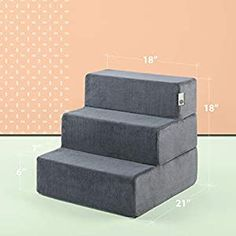 Pet Ramp, Easy Pets, Pet Stairs, Cozy Cover, Dog Steps, Dog Supplies, Dog Bed, Neutral Colors, Charcoal