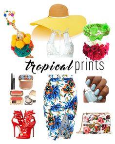 """Feel The Tropics!"" by adornlayla ❤ liked on Polyvore featuring Eugenia Kim, New Look, For Love & Lemons, Giuseppe Zanotti, Lipsy, Aurélie Bidermann, Rosantica, Gucci, Dolce&Gabbana and tropicalprints"