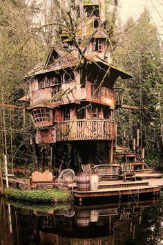 this treehouse could be a source of amazing fun and is beautifully situated