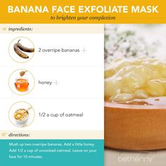 At-home banana face exfoliate mask #beauty #diy