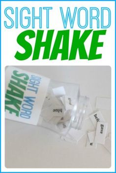"Game, ""Sight Word Shake"" (from I Can Teach My Child)"