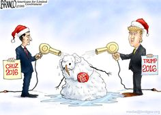 GOPe Meltdown evident by the support for perceived outsiders Trump and Cruz. cartoon by A.F.Branco ©2015