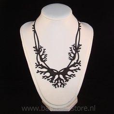 Coral - Halsketting (Zwart)