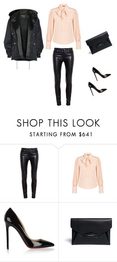 """""""Untitled #61"""" by liakdn ❤ liked on Polyvore featuring Yves Saint Laurent, Alexander McQueen, Christian Louboutin, Givenchy and Balmain"""
