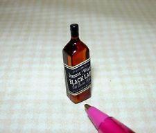 Miniature Vintage Whiskey Bottles Set #3 DOLLHOUSE Miniatures 1:12 Scale 4