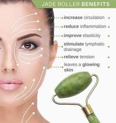 Beauty Care, Beauty Skin, Beauty Hacks, Jade Rolling, Lemongrass Spa, Drainage, Face Yoga, Circulation Sanguine, Face Massage