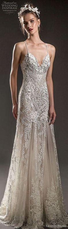 emanuel brides 2018 bridal spaghetti strap sweetheart neckline heavily embellished bodice elegant soft a line wedding dress sweep train (16) mv -- Emanuel Brides 2018 Wedding Dresses