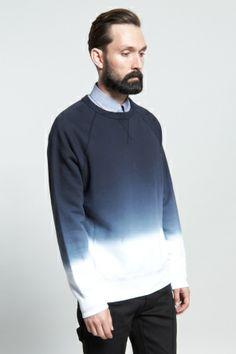 Shop for Acne Studios Sweatshirts for Men   College Sweater in Degrade   Incu