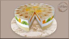 Želatínová torta s exotickým ovocím , zákusky a koláče, fotopostupy | Tortyodmamy.sk Birthday Cake, Cheese, Fruit, Youtube, Food, Birthday Cakes, Essen, Meals, Youtubers