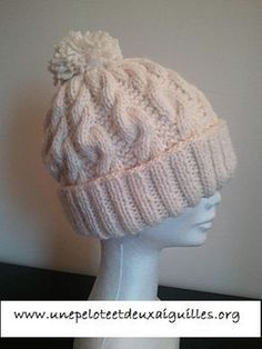 Tricoter un bonnet large adulte unisexe Knit a unisex adult wide beanie Knitting Patterns, Crochet Patterns, Knitting Ideas, Knitted Hats, Crochet Hats, Thick Yarn, Diy Crochet, Mittens, Winter Hats