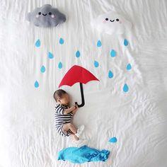 babys creative photos newborn