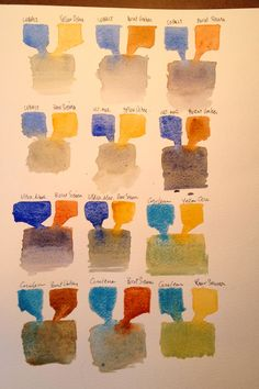 3 Steps to a More Colorful Watercolor Pallet Mixing Paint Colors, Color Mixing Chart, Color Charts, Watercolor Pallet, Watercolor Mixing, Watercolor Painting Techniques, Watercolour Tutorials, Paint Charts, Winsor And Newton Watercolor