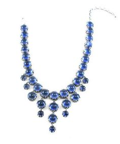 1960's Unsigned Blue Necklace