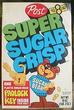 1975 Super Sugar Crisp w/ Terrariums best cereal Retro Recipes, Vintage Recipes, Vintage Advertisements, Vintage Ads, Vintage Food, Vintage Signs, Vintage Posters, Vintage Style, Mini Terrarium