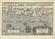 Joannes van Doetechum (I) | Kaart van de Zuidengelse kust tussen de Isle of Wight en Dover, Joannes van Doetechum (I), Lucas Jansz. Wagenaer, Staten van Holland, 1580 - 1583 |