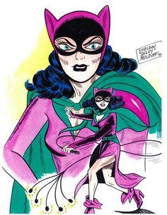 vintage Catwoman by Sheldon Moldoff
