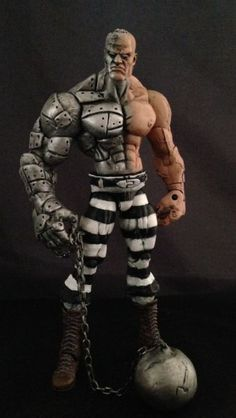Absorbing Man (Marvel Legends) Custom Action Figure by Face Base figure: Savage Dragon/WWE