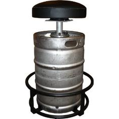 Repurposed metal beer barrels for homemade furniture. Recycling of a barrel as barstool, table or washbasin in the pub. Bar urinals from recycled beer kegs. Man Cave Items, Man Cave Gifts, Beer Gifts, Bar Stool Sports, Home Bar Counter, Garage Bar, Garage Tools, Beer Keg, Homemade Furniture