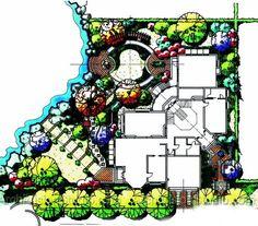 Residential Landscape Architecture Plan landscape plans traditional | projekt | pinterest | search