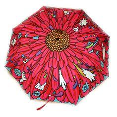 "Зонт ""Цветик-семицветик и котоэльфы летний"".  Small edition umbrella with illustration by Miu Mau, #smalledition #art #gift #miumau #illustration #umbrella"