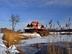 Wintertime in Kiermusy (Poland).