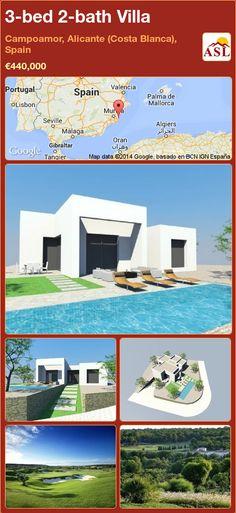 3-bed 2-bath Villa in Campoamor, Alicante (Costa Blanca), Spain ►€440,000 #PropertyForSaleInSpain