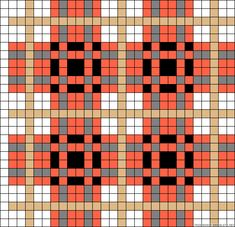 Plaid bead pattern