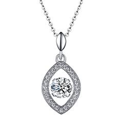"""""""Dancing Diamond Style"""" Women's 925 Sterling Silver Pendant Necklace with Cubic Zirconia Sam's Jewelry http://www.amazon.com/dp/B019YT4FUI/ref=cm_sw_r_pi_dp_.L-8wb1F7BZ6G"""
