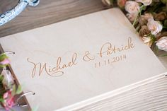 Wedding Guestbook, Rustic Guestbook, Guest Book Personalized, Wedding Date and names, Customized