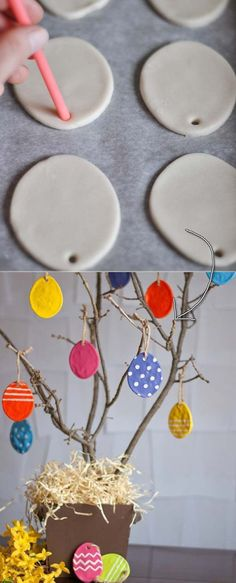27 Easy and Low-Budget Crafts to Make This Easter Budget Crafts, Diy Home Crafts, Diy Crafts For Kids, Summer Crafts, Fall Crafts, Easter Crafts, Christmas Crafts, Diy Niños Manualidades, Dough Ornaments