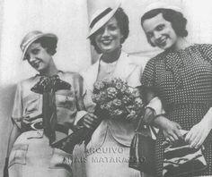 ESTRELAS QUE NUNCA SE APAGAM: AURORA MIRANDA - O Centenário da Nossa Outra Pequena Notável - Irmãs Miranda: Cecília, Carmen e Aurora, 1935. Cecília cantou por um breve período no rádio.