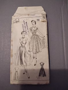 Vintage 'Style' pattern 1950s. 'An entirely feminine dress with youthful lines' by MarysCuriosityStore on Etsy Vintage Style, Vintage Fashion, Line S, 3 Shop, Feminine Dress, Pattern Fashion, 1950s, The Outsiders, Youth