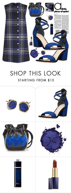 """""""Blue Plaid"""" by sunny-chen-2 ❤ liked on Polyvore featuring Far + Wide Collective, Marni, Pat McGrath and Christian Dior"""