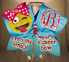 Cheer Bow Even My Emoji Wears a Cheer Bow glitter bow by SouthernSassCheerBow on Etsy