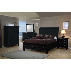 Coaster 201329-BED-SET Sandy Beach Dark Platform Storage Bedroom Set: Disclosure affiliate link